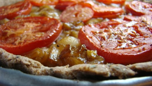 Caramelized Onion Tart with tomatoes
