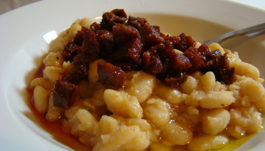 Creamy White Beans and Chorizo