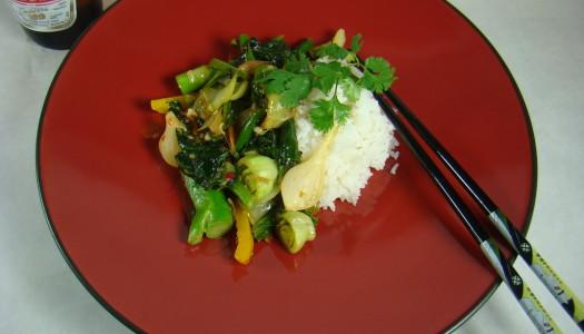 Garlic-Ginger Brassica Stirfry