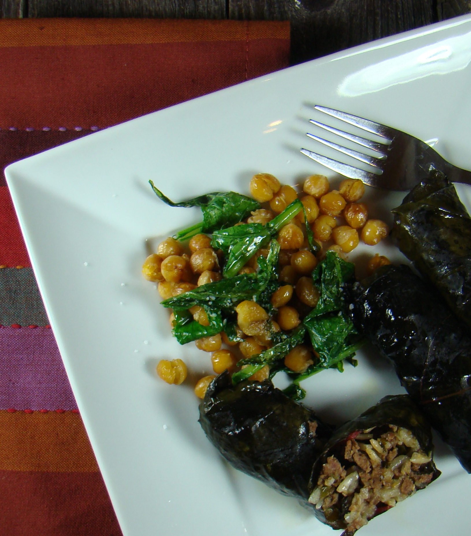 Swiss Chard and Lamb Kofte Dolmades