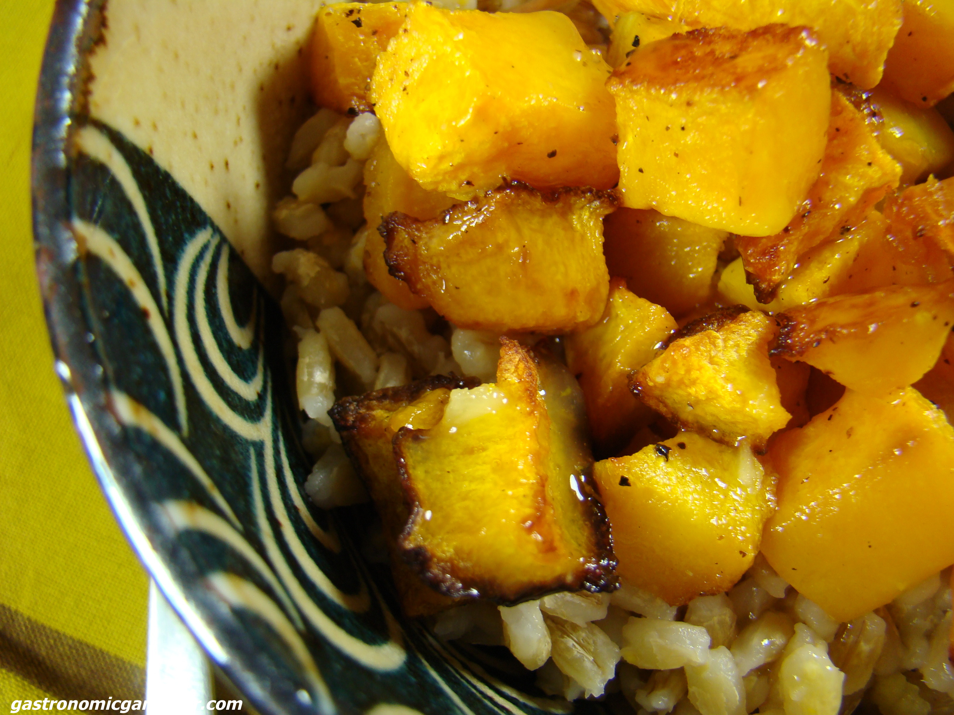 Barley and Butternut with Orange Ginger sauce