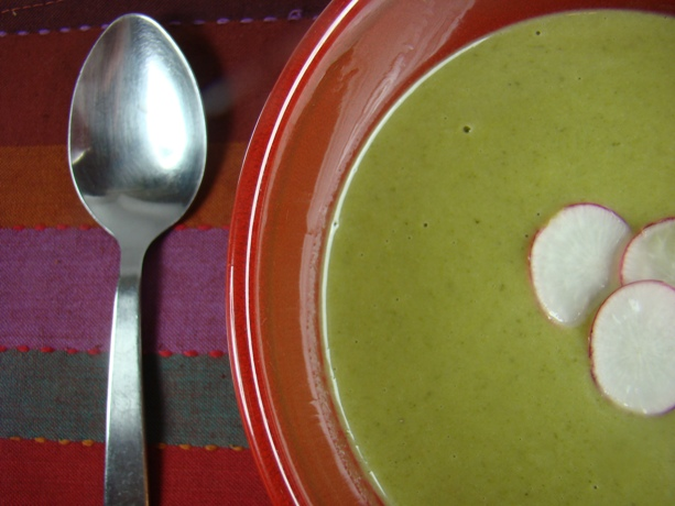 Cream of Radish Top Soup