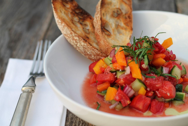 Gazpacho salad Parallax