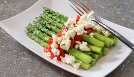 Asparagus and Blue Cheese salad