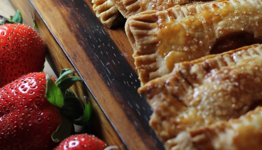 Strawberry Rhubarb and Goat Cheese Hand Pie