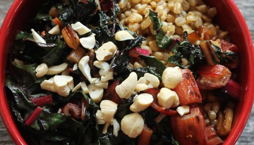 Chard and Cashews Grain Bowl