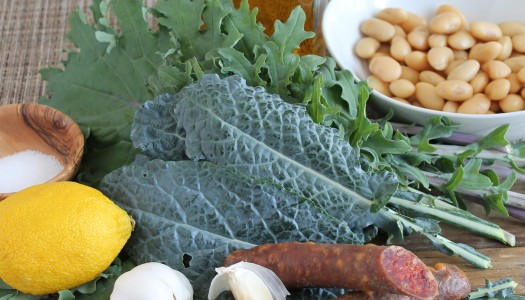 Kale Salad with Butter Beans