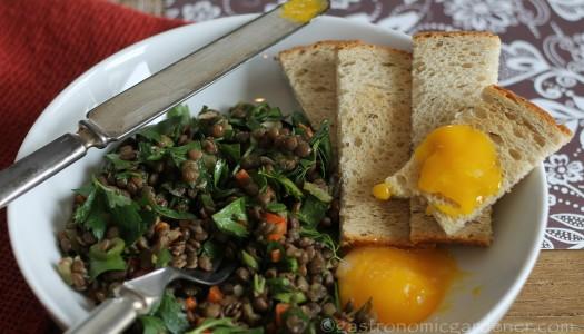 French Green Lentil Salad