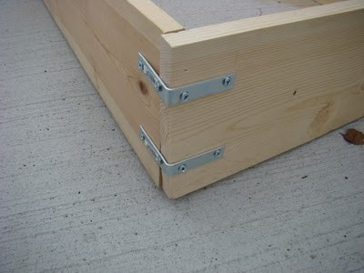 Raised Box Bed Frame Construction
