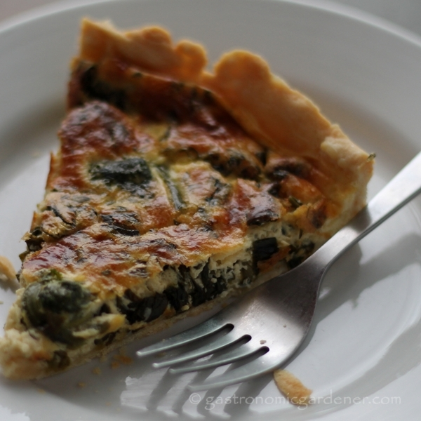 Post image for Ramp and Fiddlehead Tart
